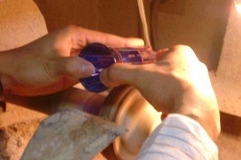 ガラスの手磨き